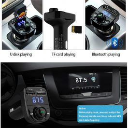 In Car Hands Free Bluetooth Music FM Transmitter Kit – 藍芽車載音樂播放器 免提 – S2518