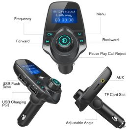 In Car Hands Free Bluetooth Music FM Transmitter Kit – 藍芽車載音樂播放器 免提 – S2523