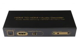 HDMI TO HDMI Audio Decoder – AUDIO EDID SETTING+SPDIF+5.1CH+HP – S06160