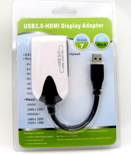 USB 3.0 to HDMI Graphic Adapter – USB3.0 轉 HDMI 外置顯示卡 – Ref S0648